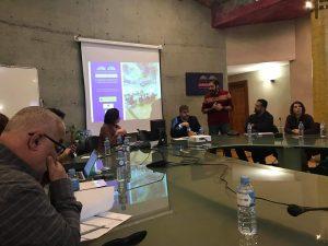 Inicio de la sesión de trabajo en la Fundación Euroárabe